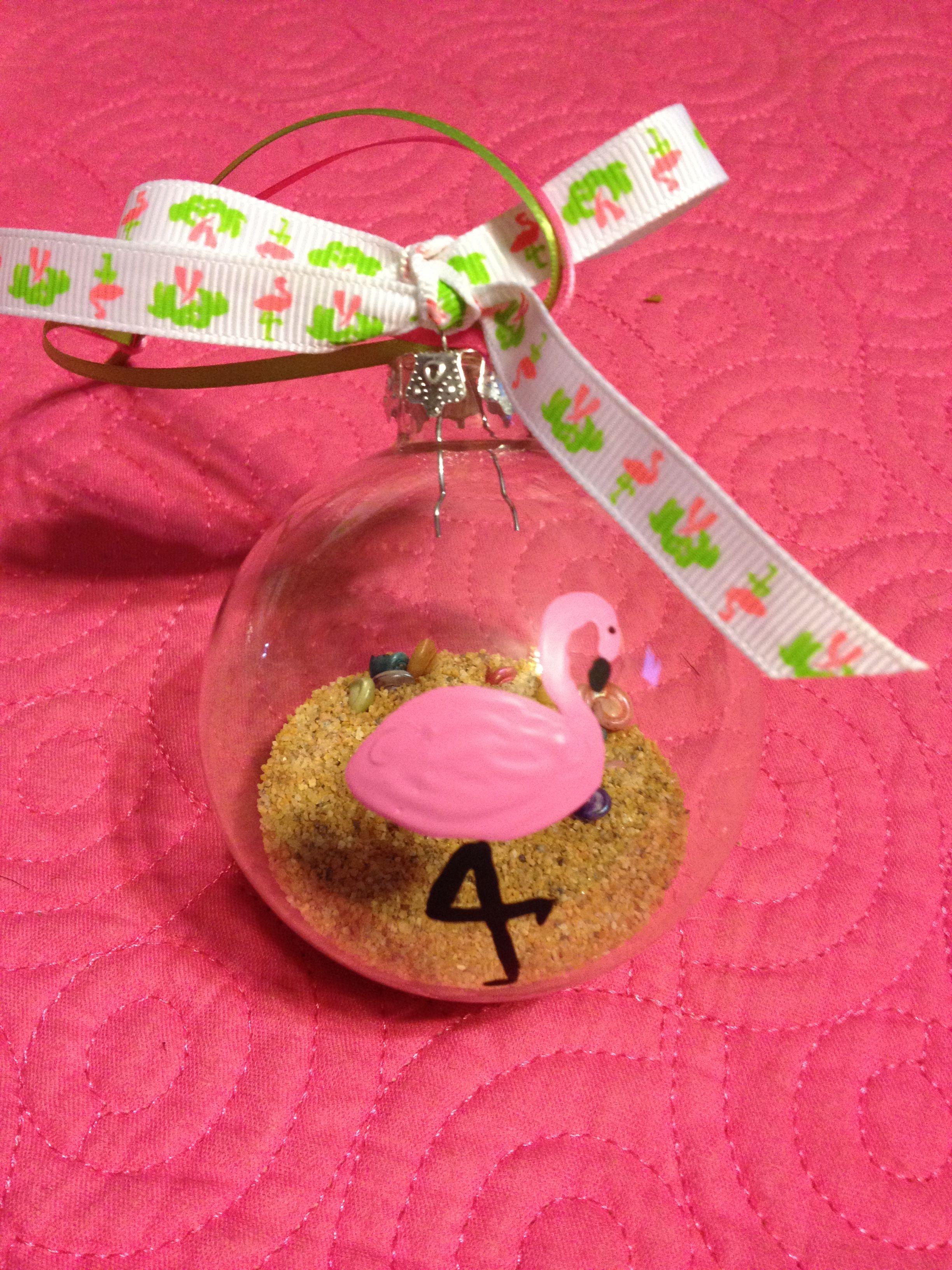 Flamingo Ornament Flamingo Ornament Flamingo Christmas Flamingo Craft