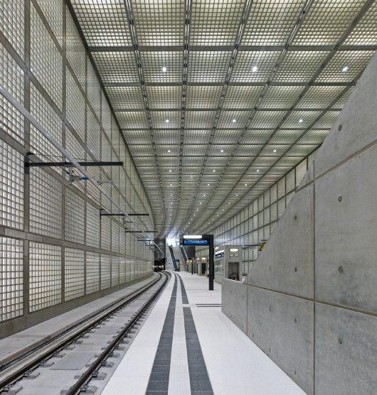 Wilhelm Leuschner Platz Station Max Dudler Metro Station Architecture Train Tunnel