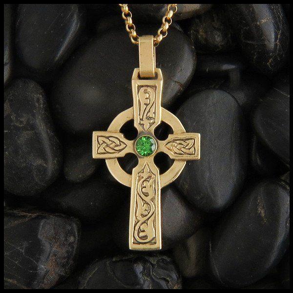 Celtic Abbey Cross Pendant in 14K Gold Amethyst price Pendants