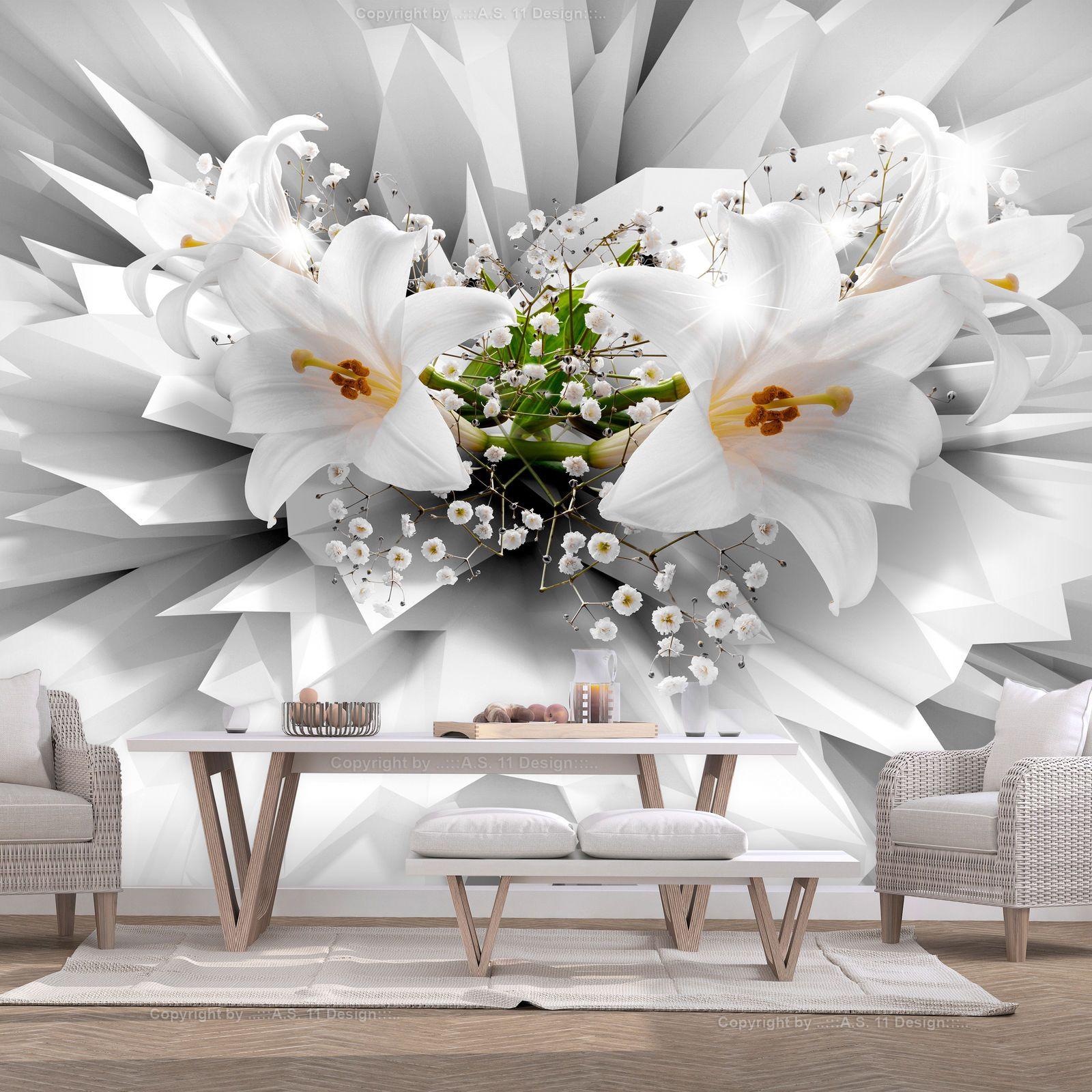 3d Effekt Blumen Lilien Fototapete Vlies Tapete Xxl Wandtapete B C