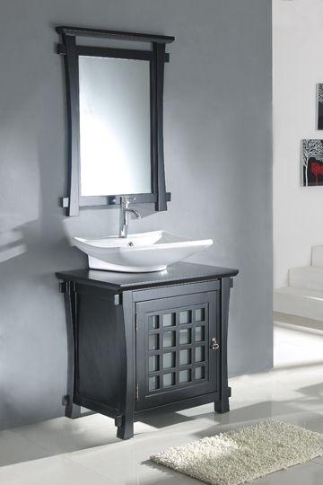 Haiku Single 30 Inch Solid Oak Bathroom Vanity Mirror Single