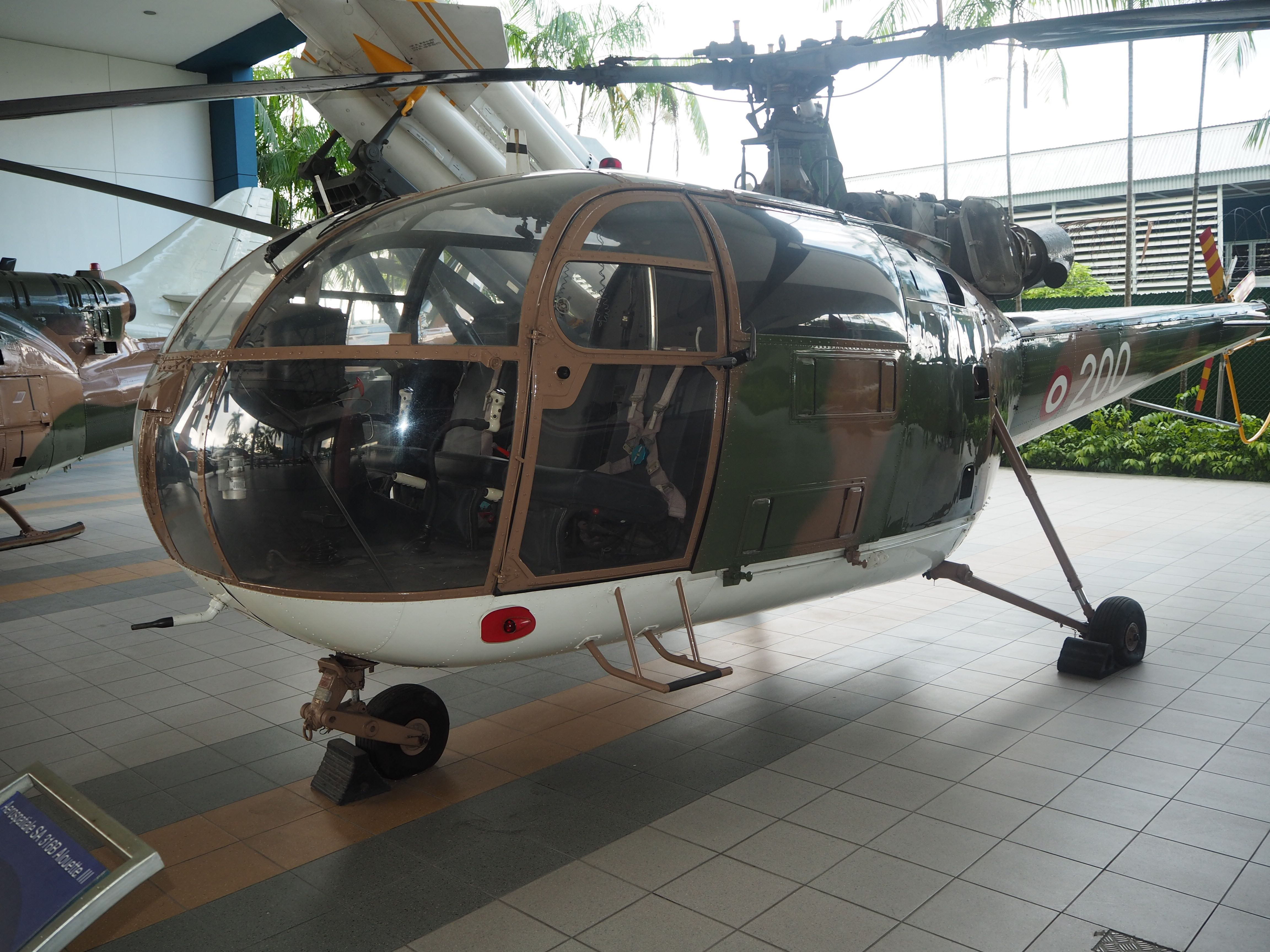 Alouette III Helicopter seen in the Republic of Singapore