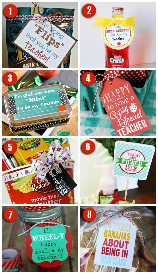 101 Easy & Creative Teacher Gift Ideas   Teacher gifts, Teaching ...