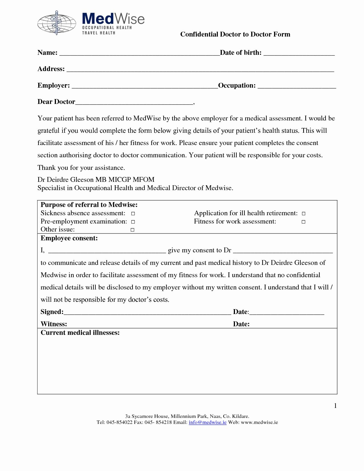 Blank Doctors Excuse form in 2020 Doctors note template