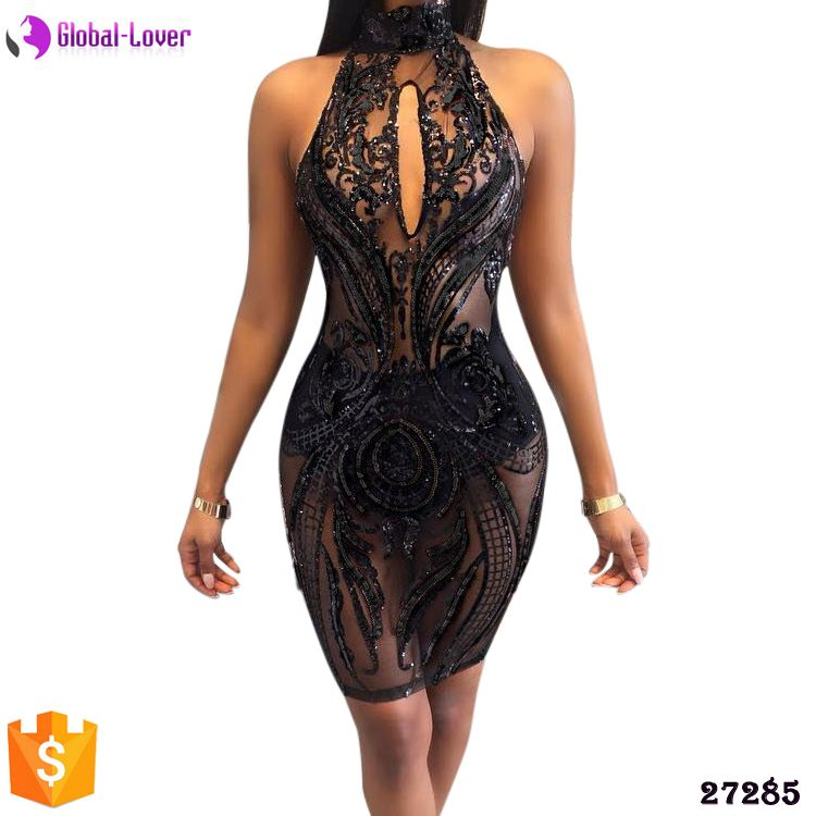 eb6a5a15850 Clothing Girls Party Wear Western Dress Sexy Transparent Party Dress ...