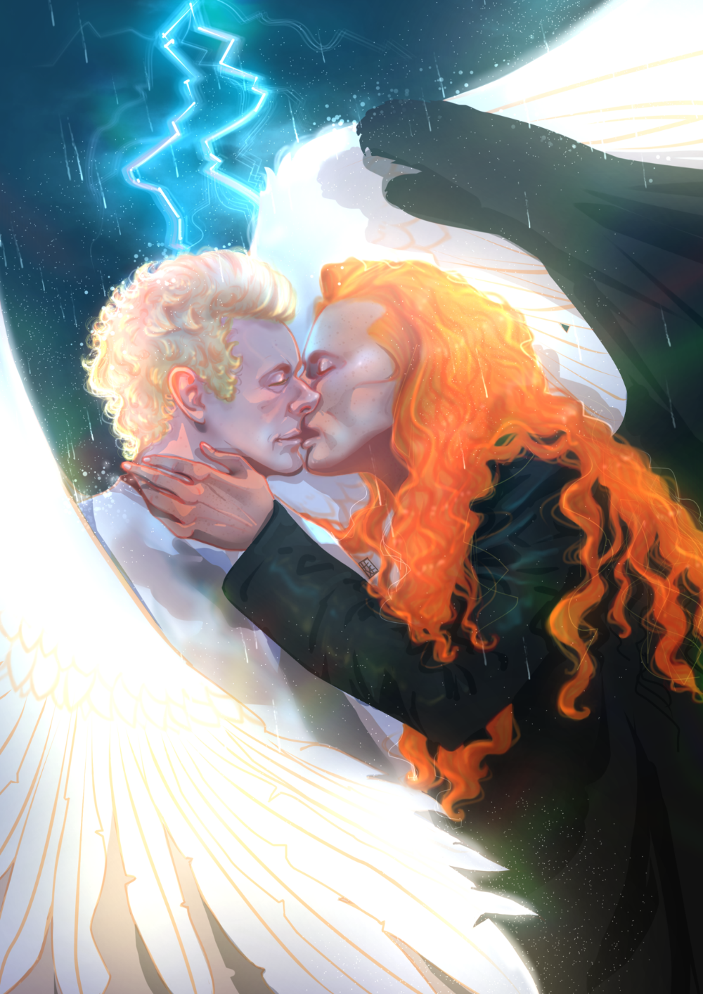 Someone On Twitter Asked The Eden Scene But It Ends Like This So I Fixed It It S Part 1 3 I Hope So Wait For More Good Omens Book Fan Art Cartoon Movies
