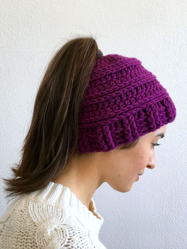 Free Crochet Hat Pattern With Ponytail Hole Custom Design Inspiration