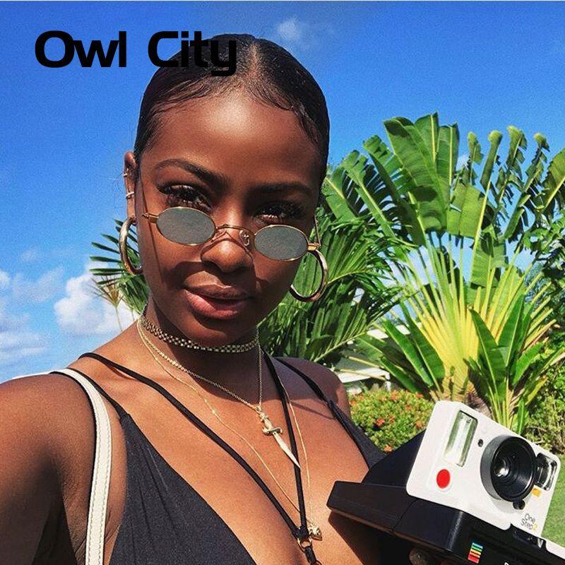 0767b887d901 Vintage Sunglasses Women Small Round Sun Glasses Retro Ladies Sunglass  Black Yellow Color Lenses Eyewear Brand Designer -in Sunglasses from Women s  Clothing ...