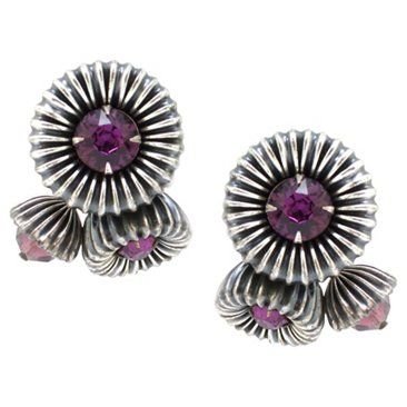 Check out this item at One Kings Lane! Napier Modernist Floral Earrings