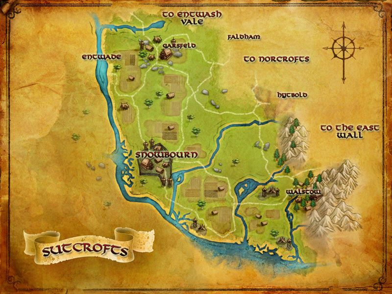 lotro map of the sutcrofts