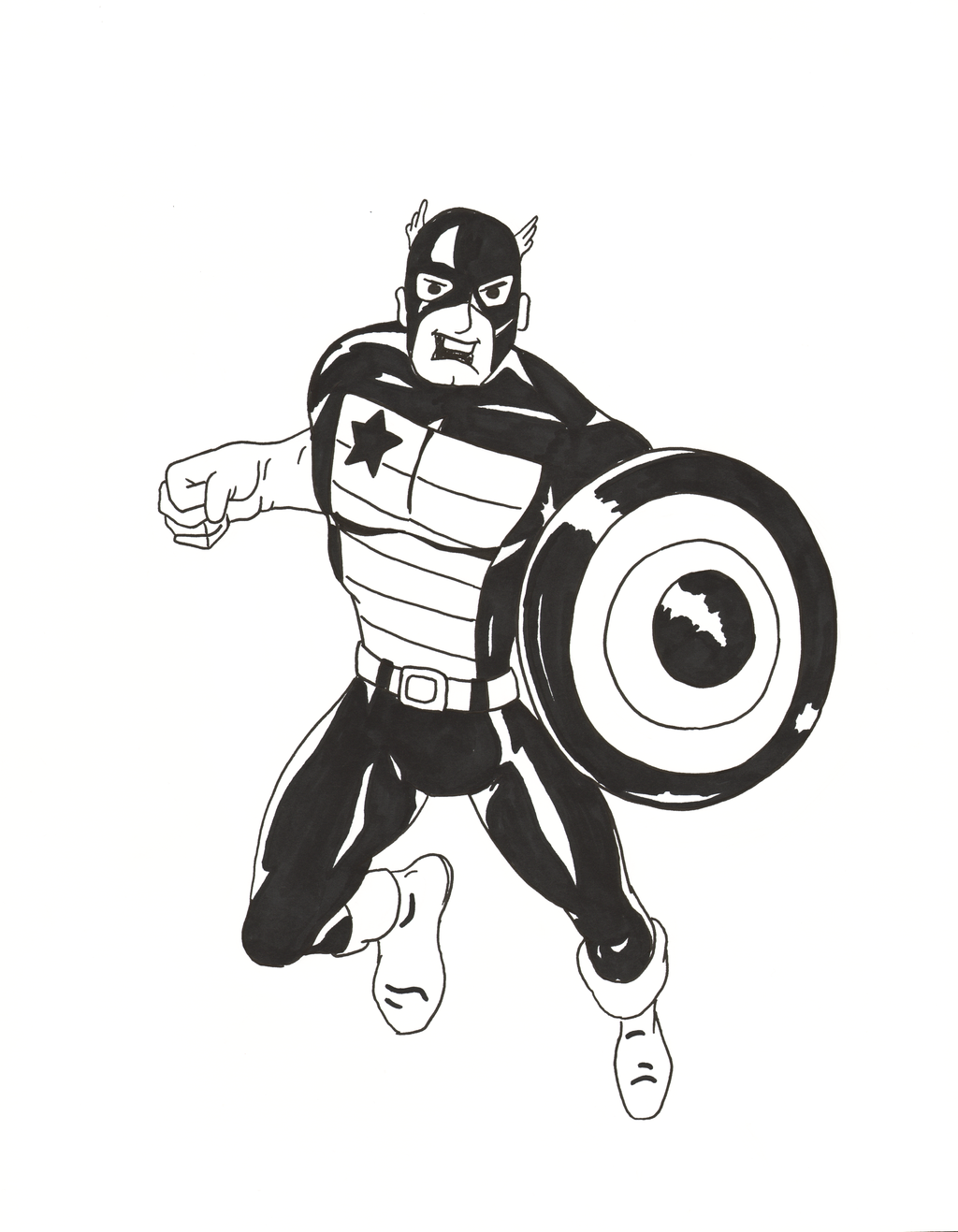 The Captain (America) by Wolfclaw990.deviantart.com on @DeviantArt