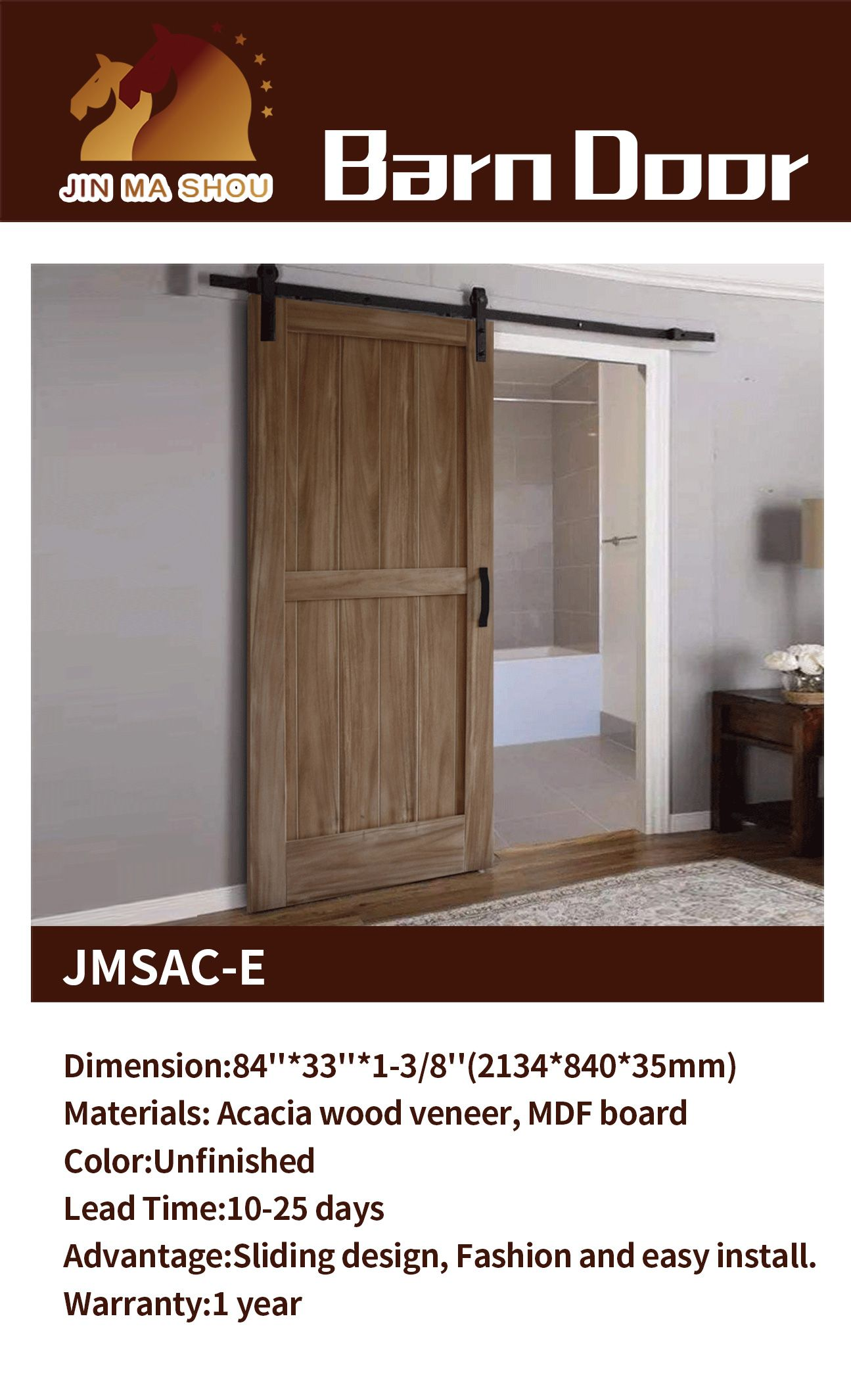 China Manufacturer Shandong Jinmashou Produces Fsliding Barn Door For Many Kinds Of Doors Made By Defferent Barn Door Tall Cabinet Storage Sliding Barn Door
