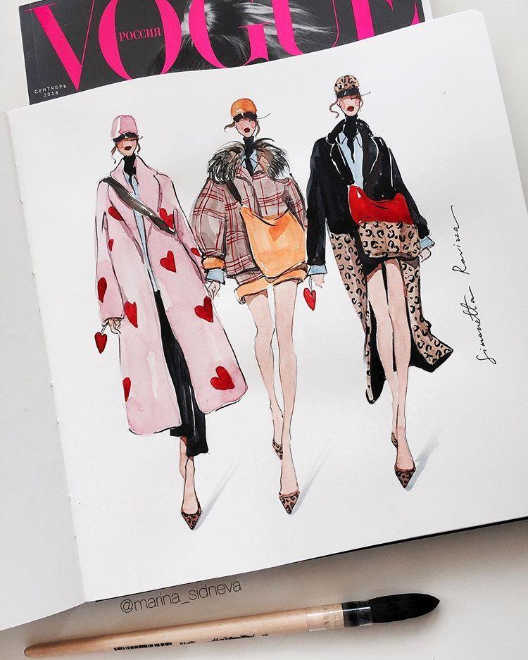 Fashion Illustrator /  ArtistさんはInstagramを利用しています:「♥️@simonettaravizza_official #simonettaravizza  #mari… | Figuras de la moda, Ilustración de moda, Portfolio de moda