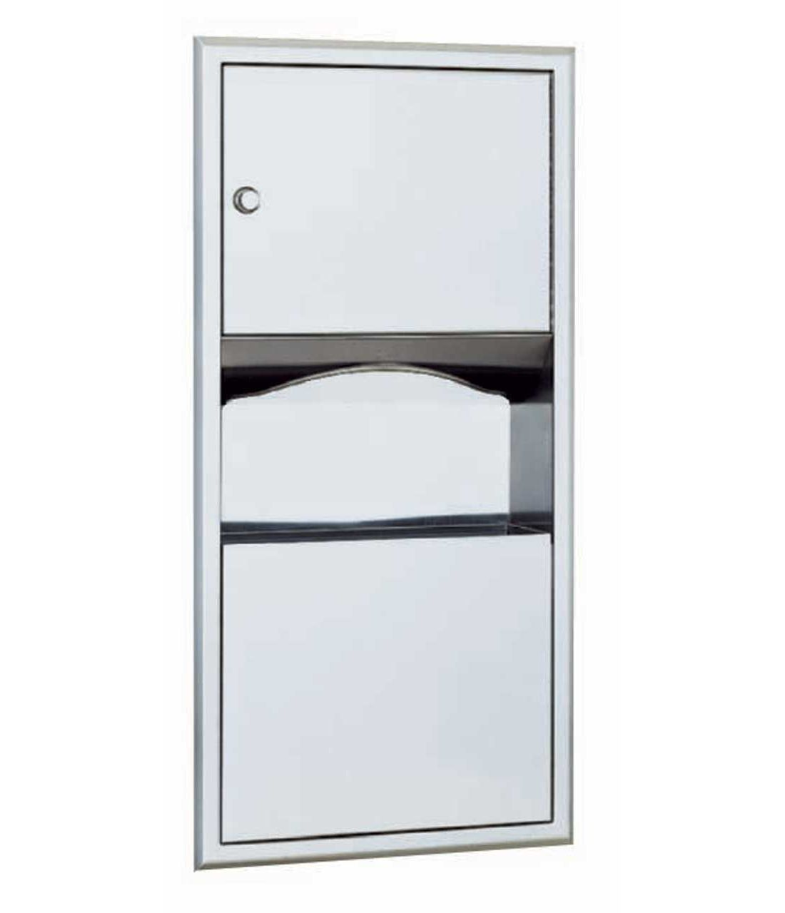 Paper Towl Dispenser And Trash Can Unit Bobrick B 369  # Muebles Bobrick
