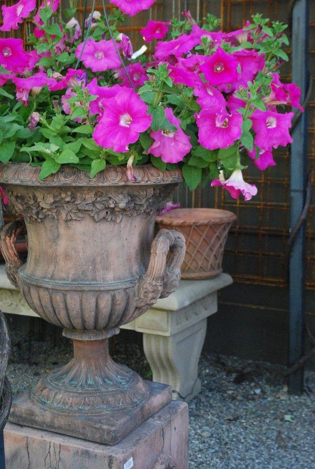 English Made Concrete Urn Garden Pots Summer Garden 400 x 300