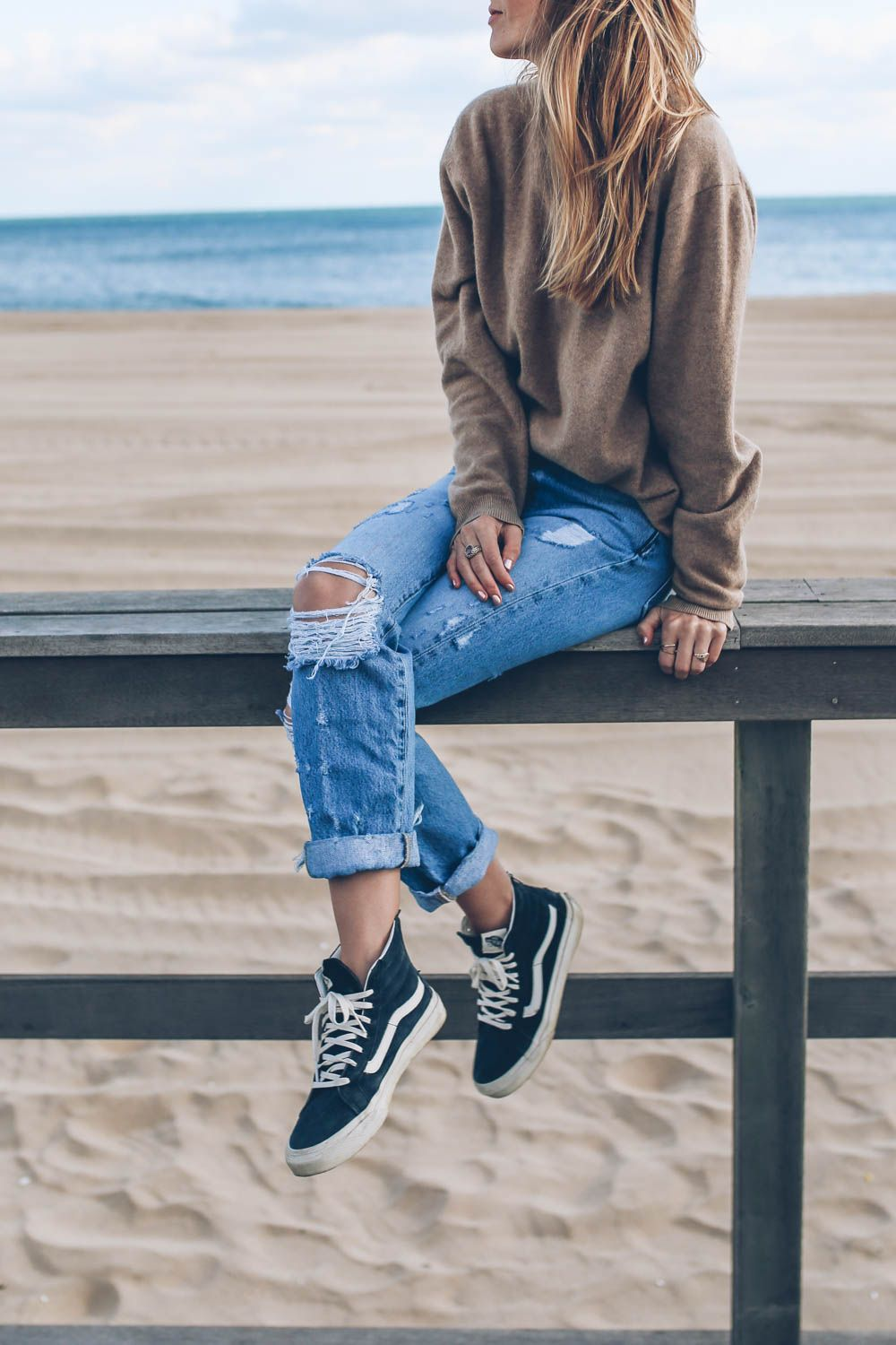 Girls Getaway in Montauk | Cold beach outfit, Beach day ...