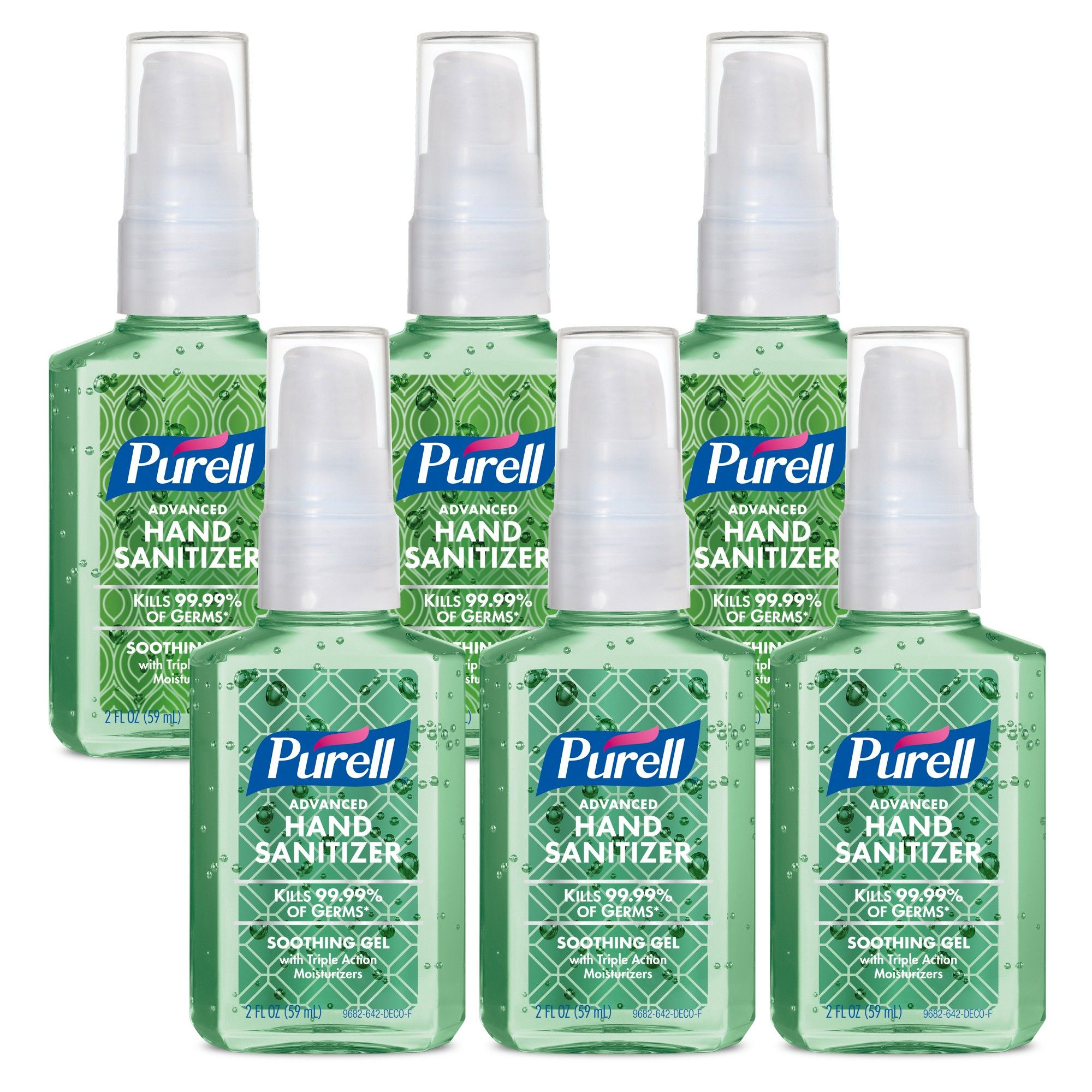 Purell Advanced Hand Sanitizer Soothing Gel Metallic Design Series