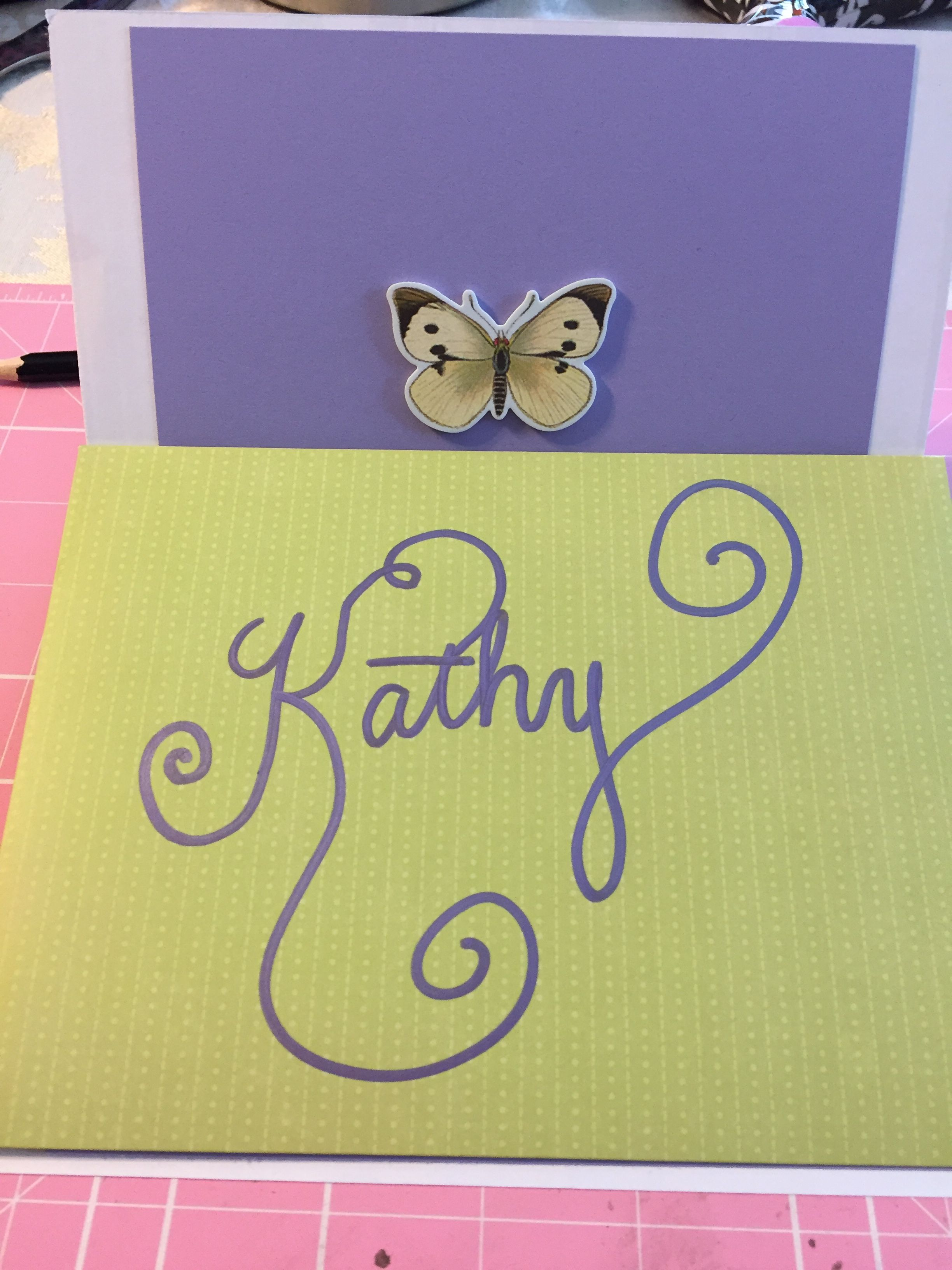 Retirement card butterfly diy card cards by kym pinterest