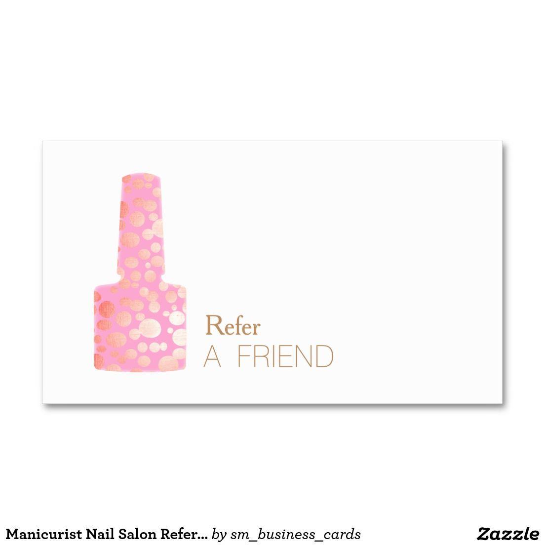 Manicurist nail salon refer a friend double sided standard business manicurist nail salon refer a friend double sided standard business cards pack of 100 colourmoves