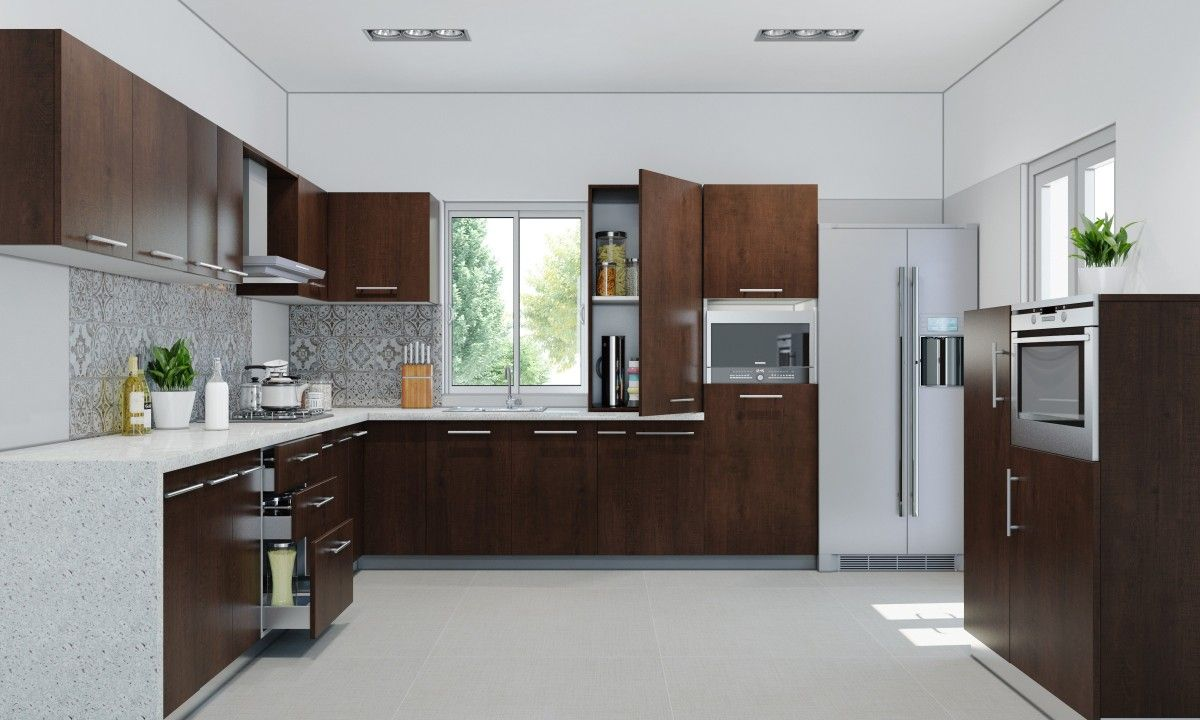 L shaped kitchen designs ideas for your beloved home for Square shaped kitchen designs