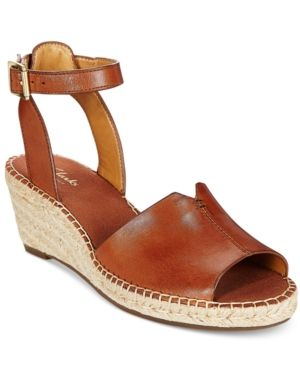6e8610e3bbe3 Clarks Artisan Women s Petrina Selma Espadrille Wedge Sandals - Brown 5.5M