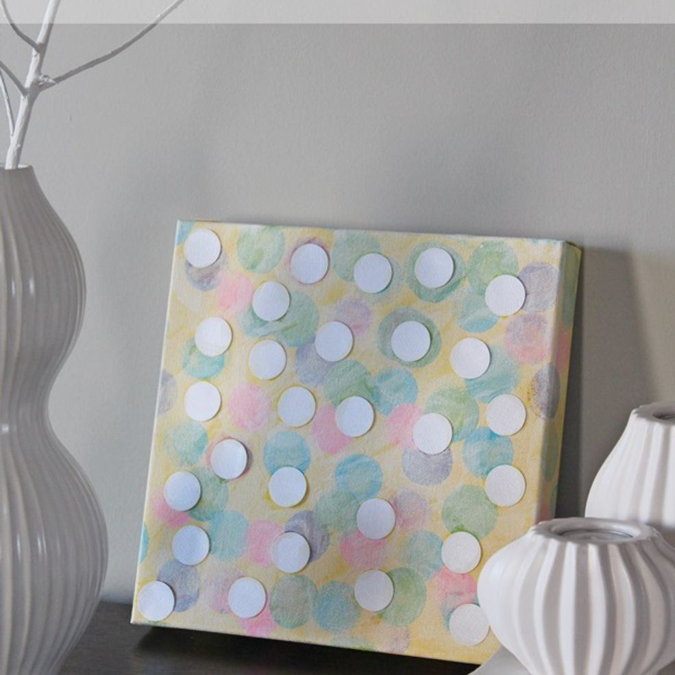 I needed some new art for our home, so my son made this DIY Bokeh Art!