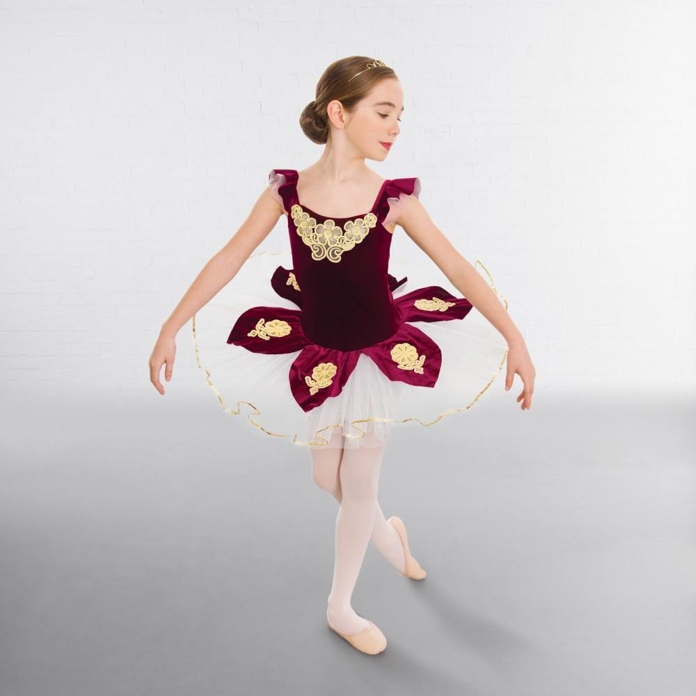 1st Position Velour Applique Tutu Dance Costumes Dancing Dazzle Dancewear