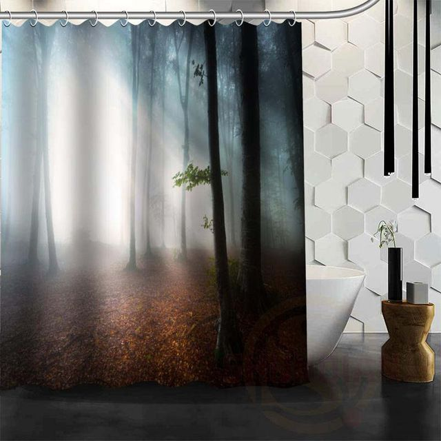 Best Nice Custom Forests Road Landscape Nature Shower Curtain Bath Curtain Waterproof Fabric For Bathroom Mo Waterproof Fabric Bathroom Forest Road