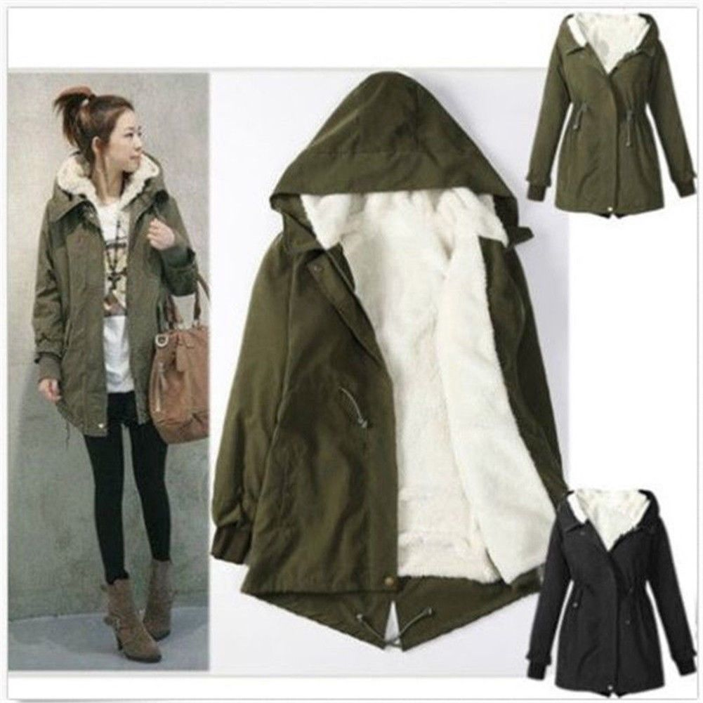 2017 Winter Fashion Women Coat Parkas Jacket Outwear Jackets Lady ...