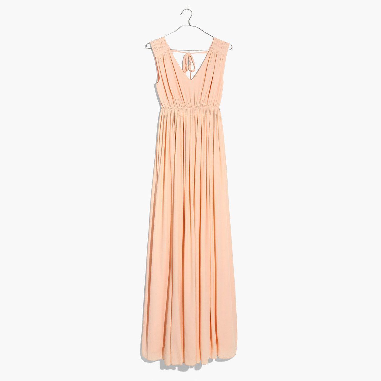 00fc07b4769 Madewell Womens Magnolia Tie-Back Maxi Dress (Size S