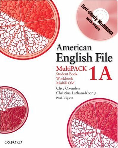 American English File Level 1 Student And Workbook Multipack A By