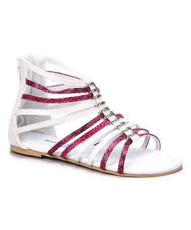 Look at this #zulilyfind! Fuchsia Gladiator Sandal by Madness Jr #zulilyfinds