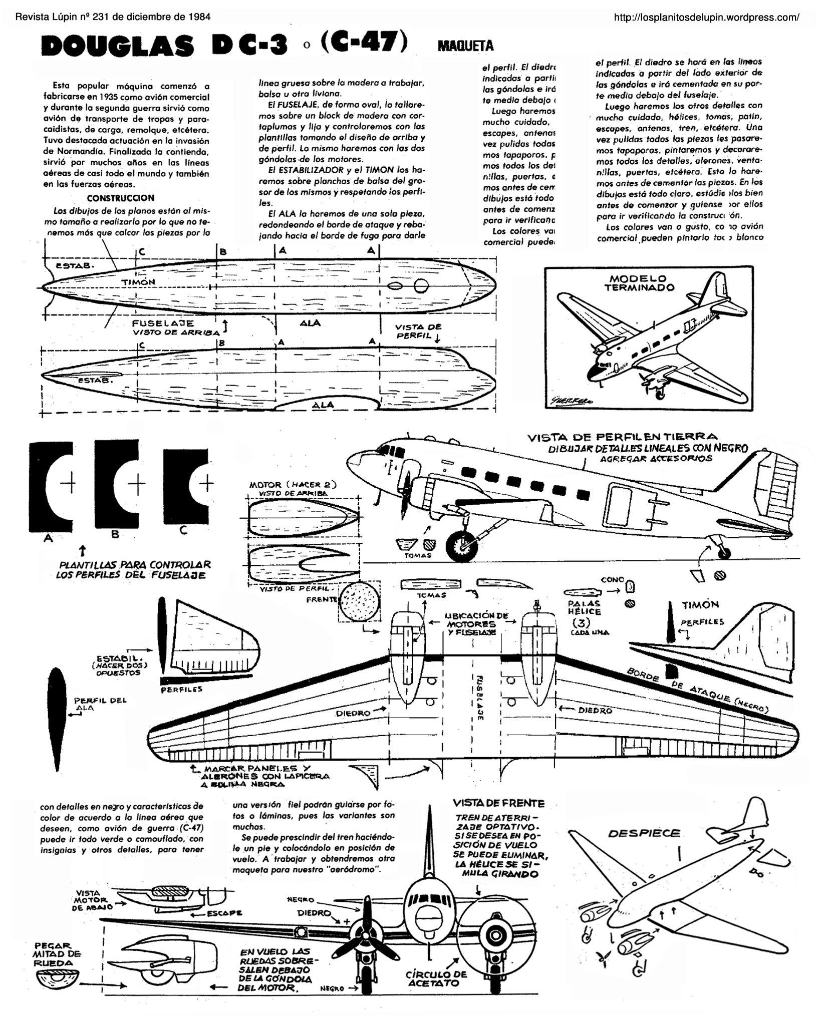 Planitos de lupin douglas dc 3 zuk nftige projekte - Trabajos manuales en madera ...