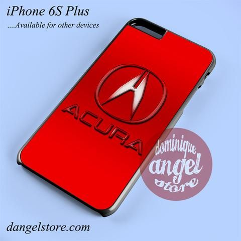 Red Acura Logo Phone Case For IPhone S Plus And Another IPhone - Acura phone case