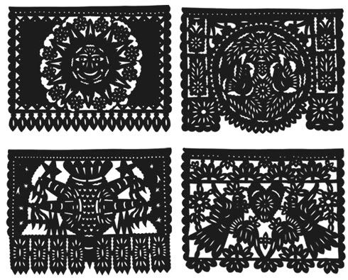 27+ Papel picado clipart black and white information