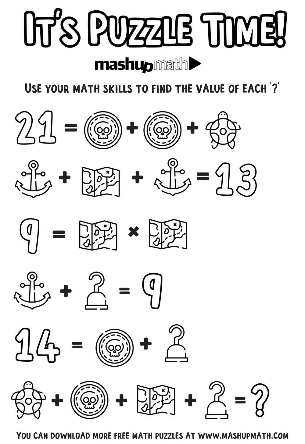 medium resolution of Free Math Coloring Worksheets for 5th and 6th Grade — Mashup Math   Math coloring  worksheets