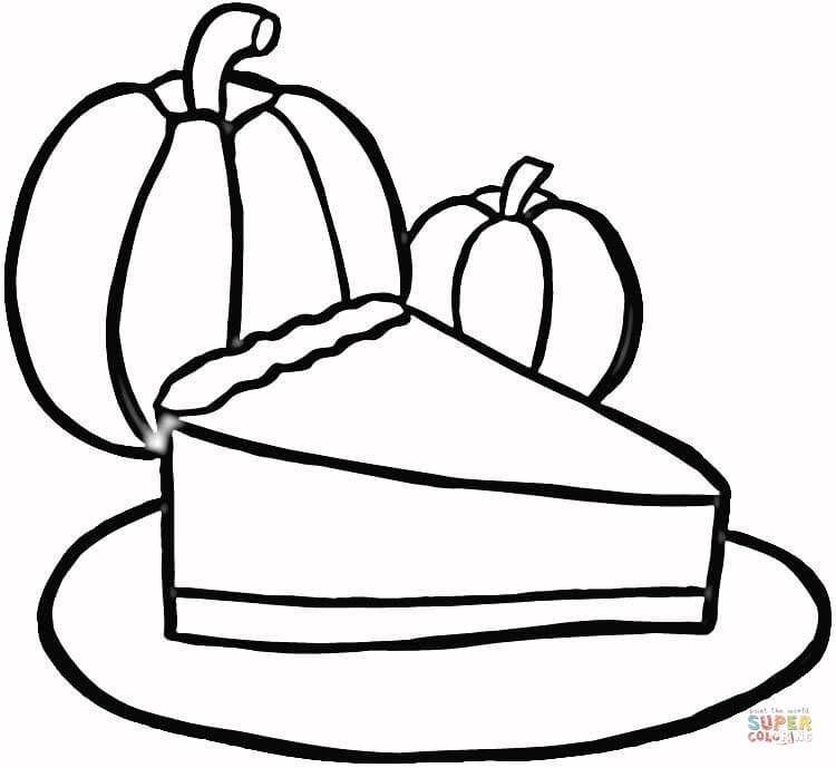 Resultado De Imagem Para Pumpkin Pie Drawing Coloring Pages