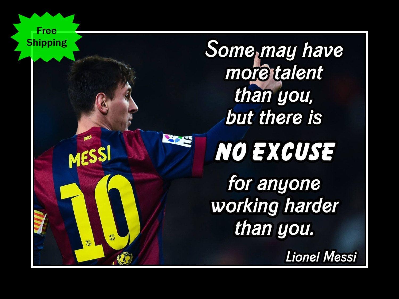 Motivation Live The Dream Ronaldo Inspiration Quote Poster Football Court Sport