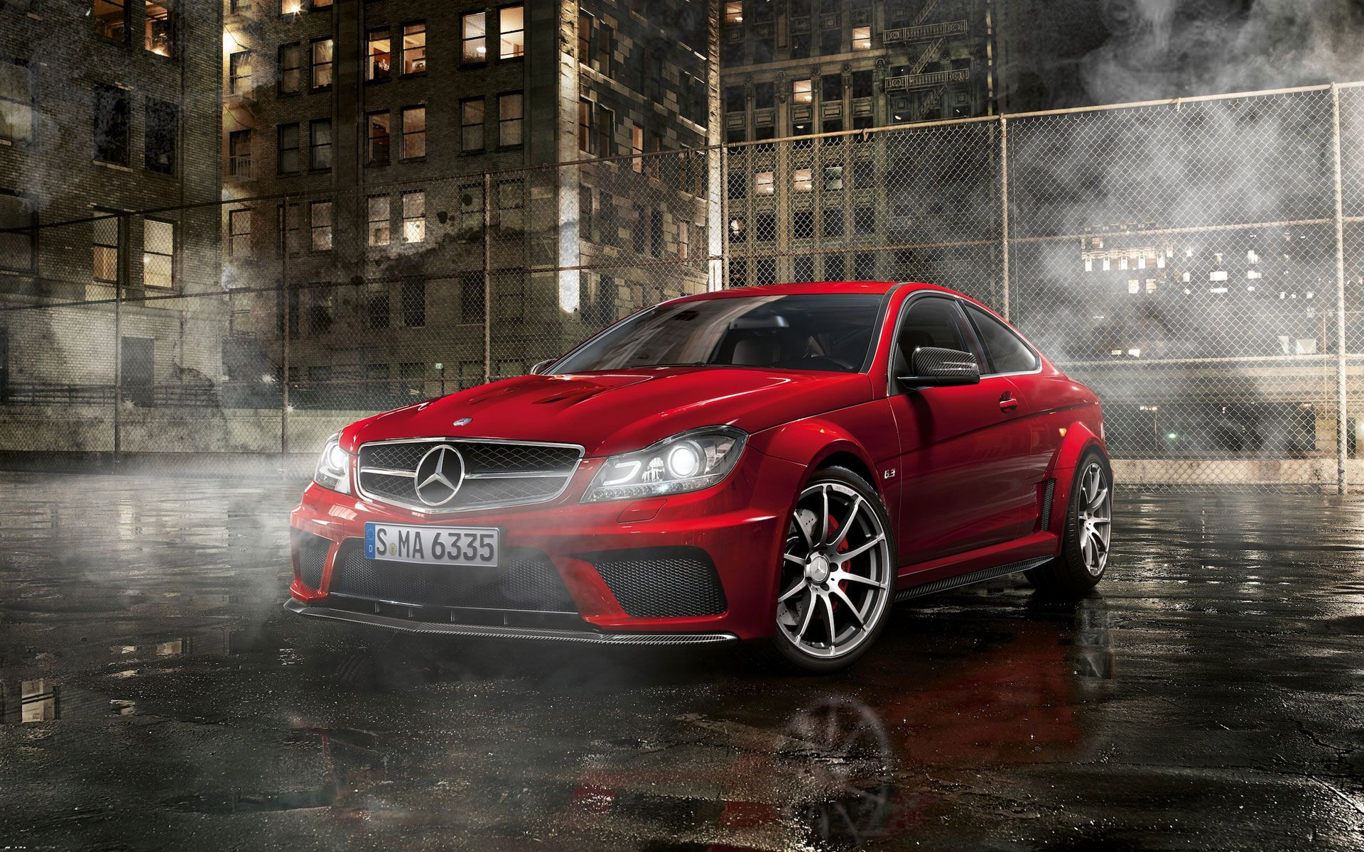 Mercedes Benz C63 Amg Black Series Coupe Wallpaper Autos Parking