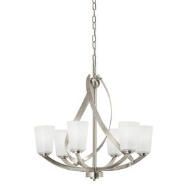 Layla 6 Light Brushed Nickel Chandelier Chandelier Shades