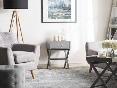 Table basse grise avec tiroir monroe avec images table Table basse avec tiroir de rangement