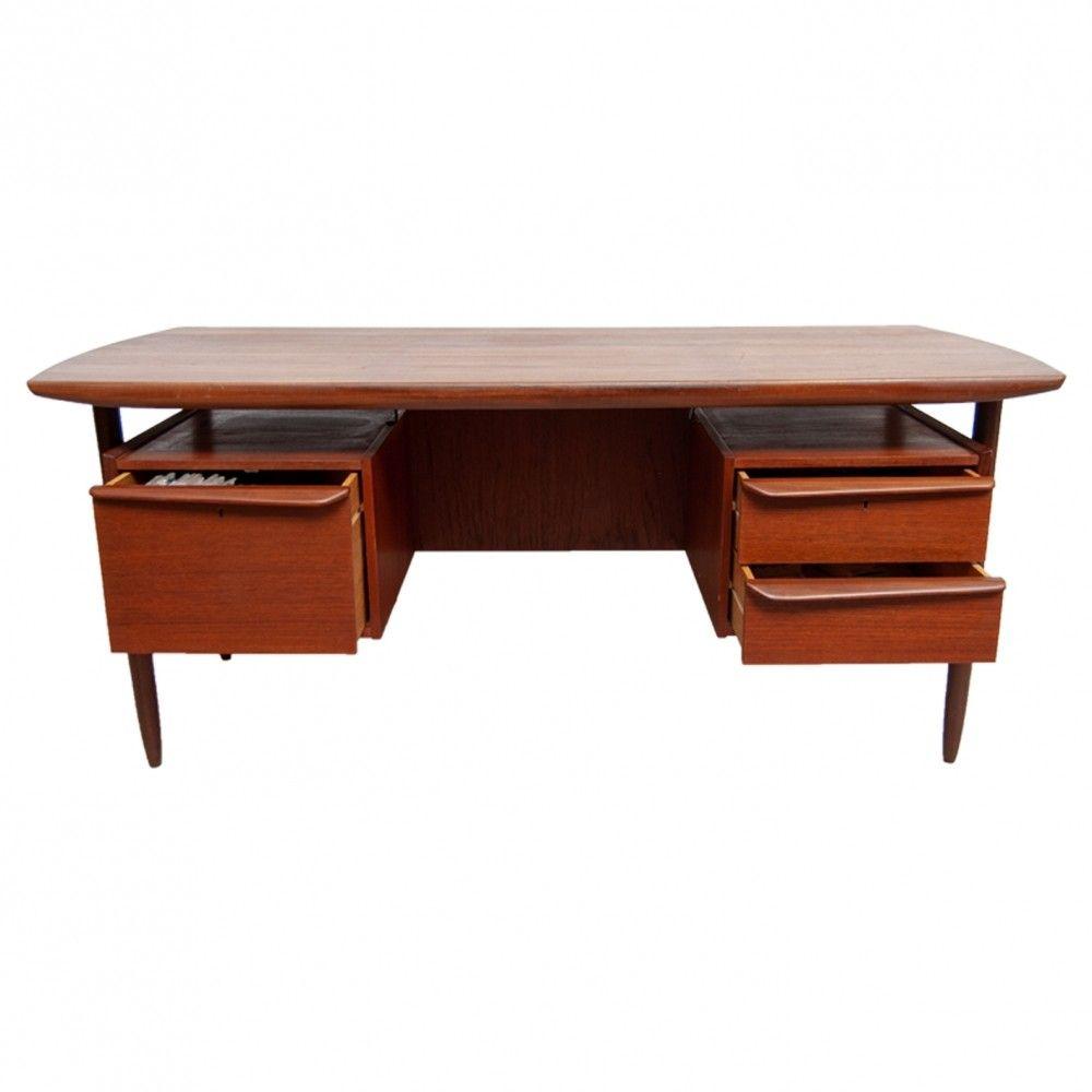 Mid-Century Modern Floating Top Desk by Tijsseling for ...