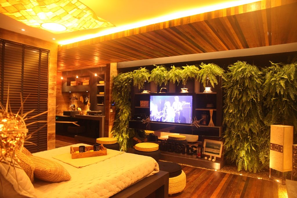 Casa Cor SC 2014 arq Waleska Burlacenko Studio Garopaba Jardim vertical e madeira trazem a natureza para o interior