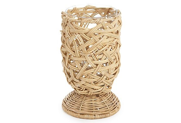 Would love to have a collection of these rattan hurricanes for an outdoor soiree!
