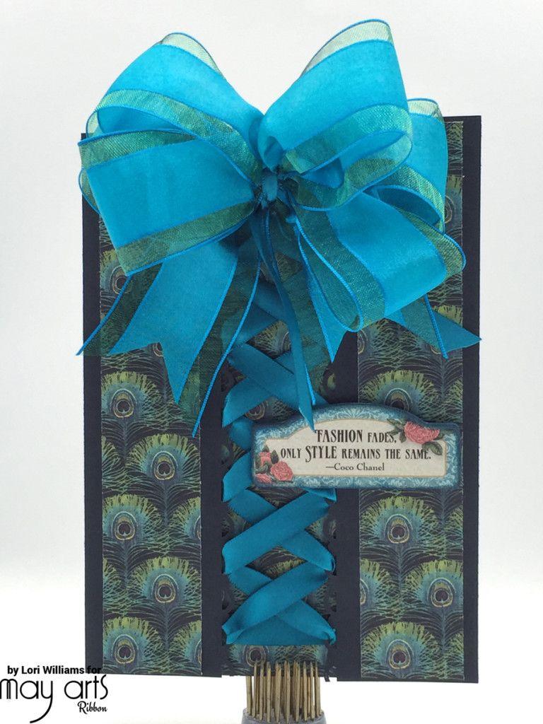 Laced ribbon corset card inspiration ribbon ideas pinterest laced ribbon corset card unique cardscreative cardswholesale kristyandbryce Choice Image