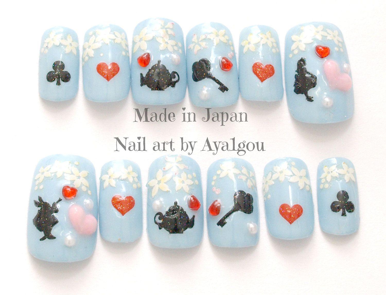 WANTTTTT! Kawaii nails, sweet lolita, fairy kei, gothic, alice in ...