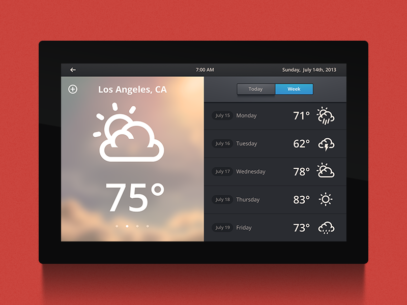 Home Automation UI   Weather