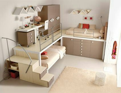 2 Bed Smal One Level Design Cool Bunk Beds Awesome Bedrooms Small Room Design