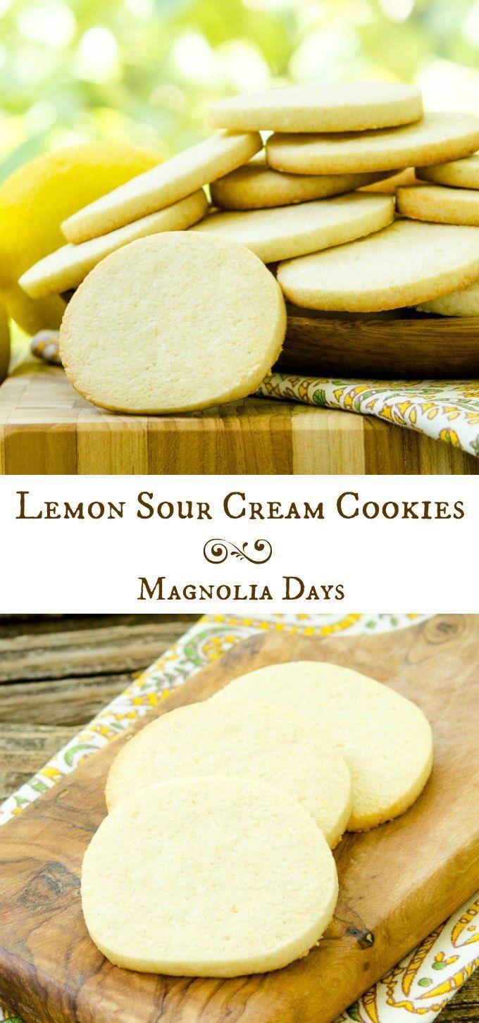 Lemon Sour Cream Cookies For Creativecookieexchange Recipe Sour Cream Cookies Sour Cream No Bake Cookies