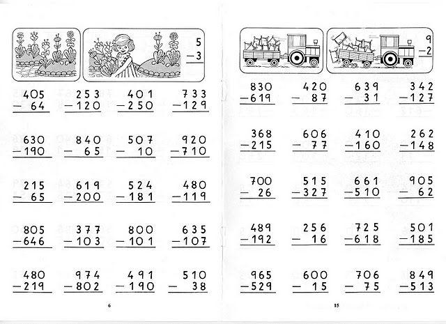 Restas Llevando Para Los Peques De La Casa Actividades De Resta Sumas Y Restas Llevando Fichas De Matematicas